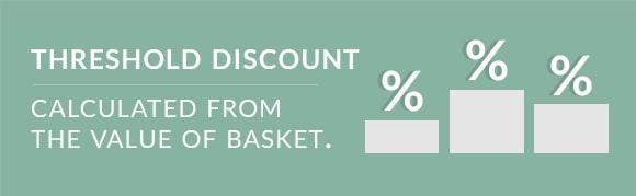 Threshold discount.